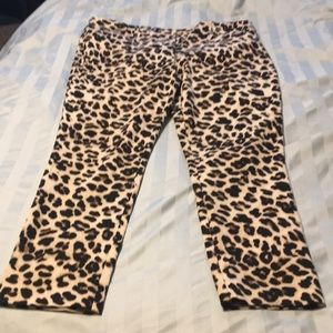 Audrey Leopard Print Slim Leg Ankle Pants (reposh)